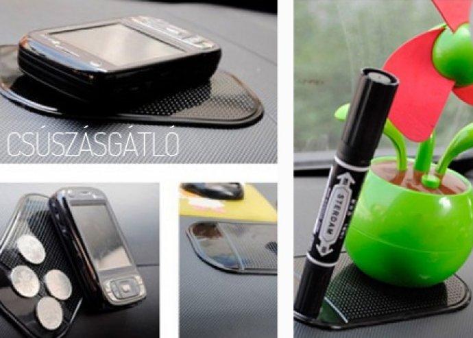 """Csúszásgátló mobil és """"kütyütartó"""" műszerfalra"""