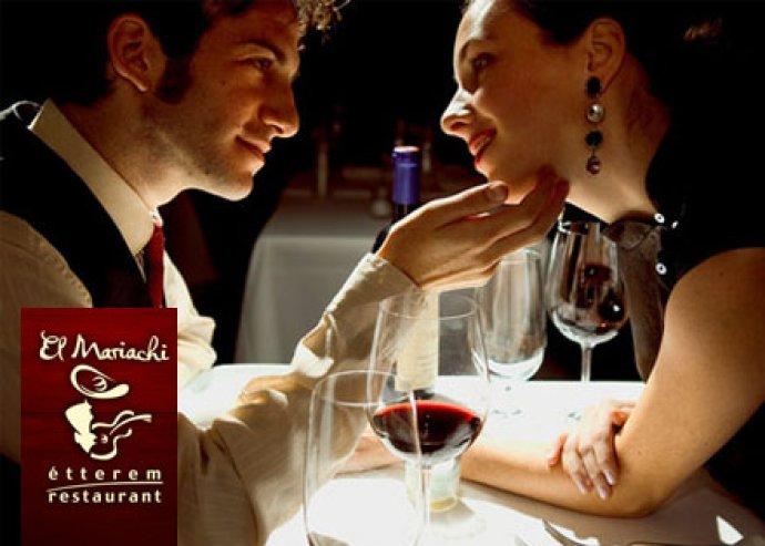 El Mariachi-ban Valentin napi 2 személyes vegyestál