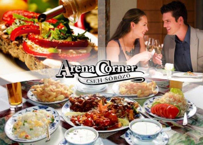 2 főnek a'la carte ételfogyasztás az Arena Corner éttermekben