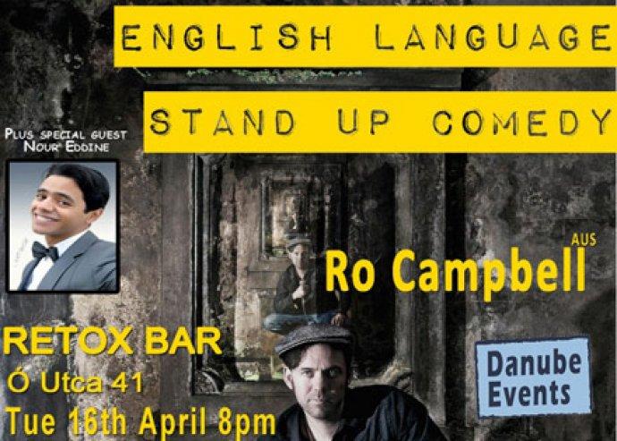 Stand up comedy angol humoristákkal a belvárosban
