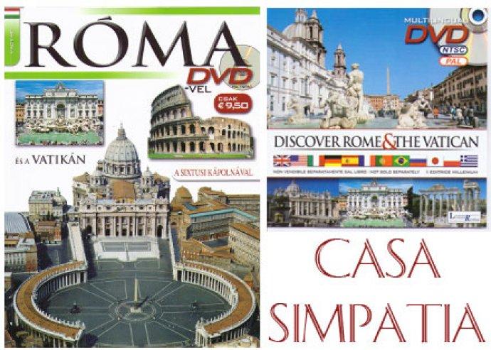 Róma útikönyv magyar nyelvű DVD-vel és kedvezménykuponnal a  Casa Simpatia Roma-ban való foglalás esetén