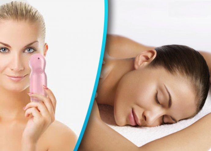 Arc-, nyak- és dekoltázsmasszázs+ultrahangos kezelés