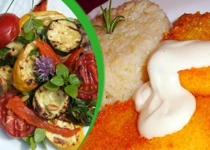 Rántott sajt vagy grill zöldség
