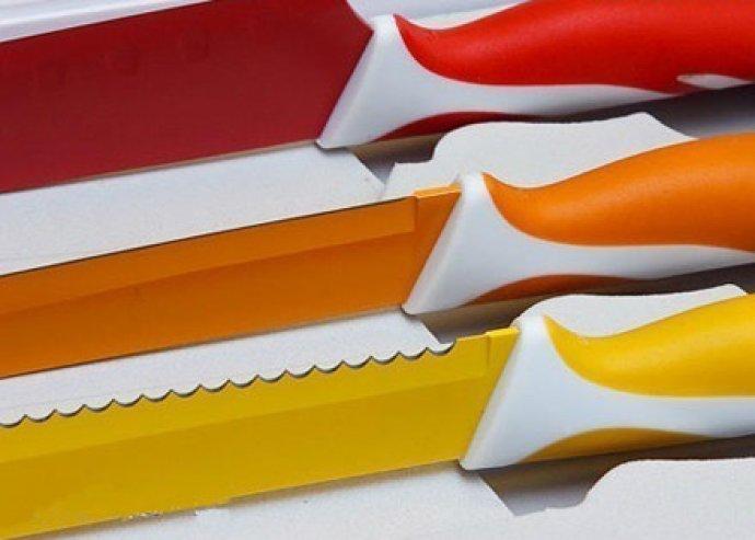 6 db praktikus, kerámia bevonatos kés