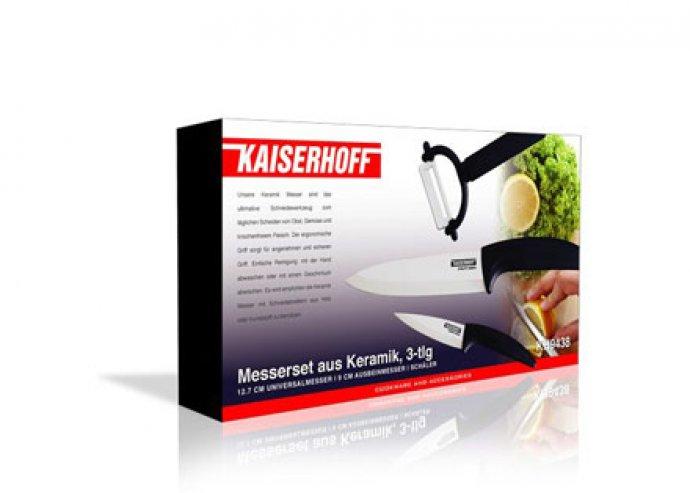 3 részes minőségi, praktikus kerámia késkészlet a konyhai feladatok könnyebbé tételéért