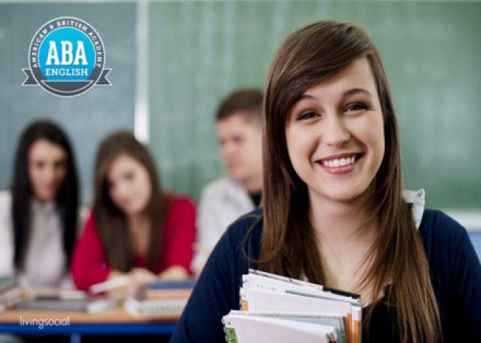Anyanyelvi tanárokkal online angol nyelvtanfolyam az ABA English-től, 3 - 6 - 12 hónapos