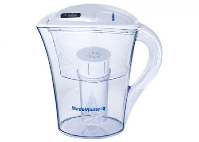 2 literes Aqua Essence víztisztító és -lágyító készülék, cserélhető filterrel és napszámlálóval