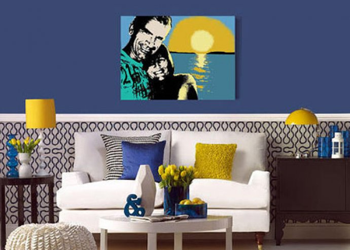 Stílusos portré Rólad vagy szeretteidről! Egyedi hangulatú, kézzel készített festmény, fotó alapján, A2 méretben