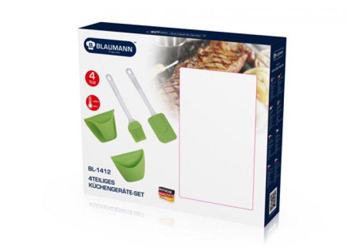 Szilikon konyhai szett,1 db kenőecset, 1 db spatula, rugalmas, törhetetlen, könnyen tárolható