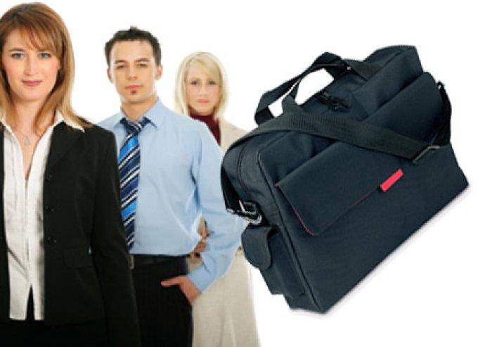 Deal cipzáras laptop táska, állítható vállpánttal, tépőzáras zsebbel és mobiltokkal
