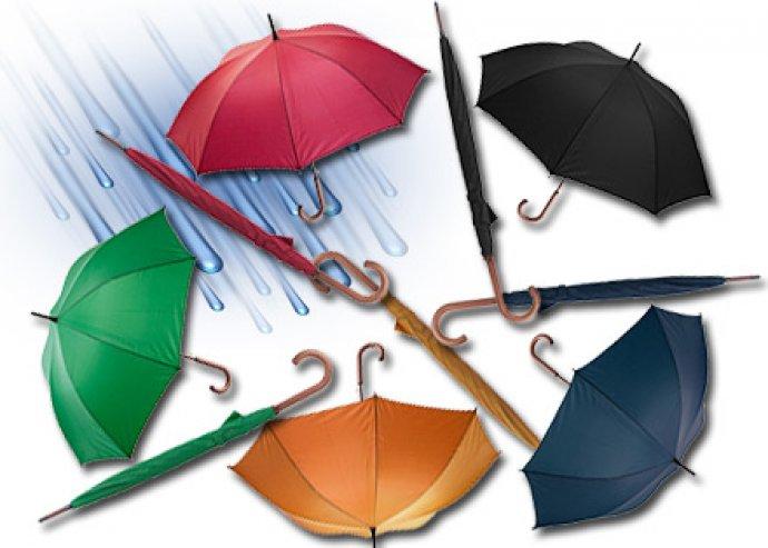 8 paneles Henderson automata esernyő fém kiegészítőkkel, fa fogantyúval, nyéllel és végekkel