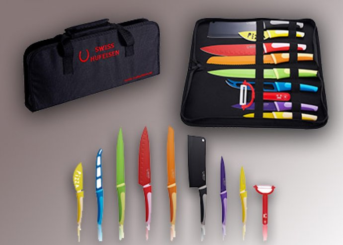 Konyhai vágóeszközök! Nagy késkészlet táskával ajándék sebtapasszal