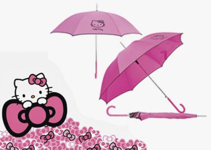 Divatos, 8 paneles Vera automata esernyő népszerű Hello Kitty mintával