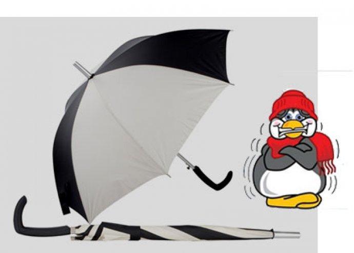 Dizájnos, elegáns, nagyméretű, 8 paneles Guriatti automata esernyő, műanyag fogantyúval