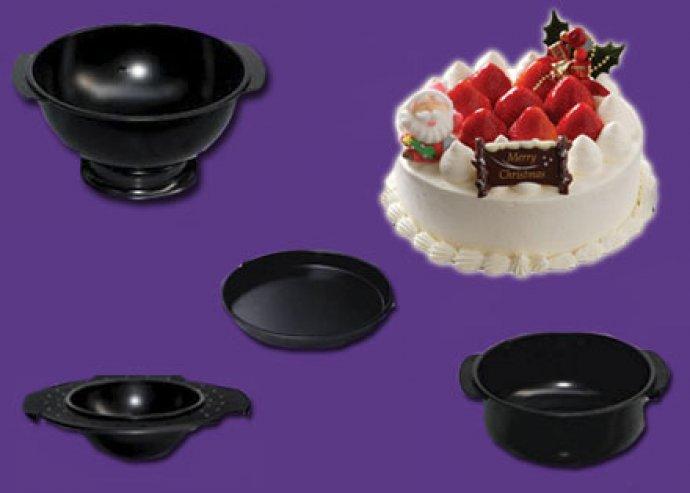 4 részes tortaforma tapadásmentes bevonattal