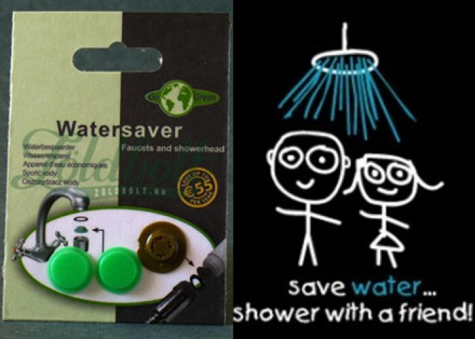 Go Green víztakarékos betét csaphoz, zuhanyhoz, amivel akár 50%-ot spórolhatsz vízfogyasztásodon