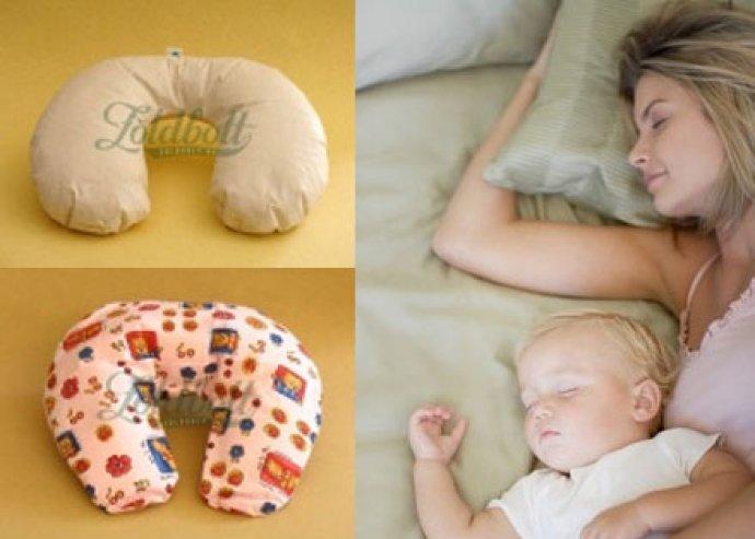 Bio tönkölypelyva nyakpárna, felnőtt és gyerek, kifli formájú, huzattal, fájdalomcsökkentő és masszírozó