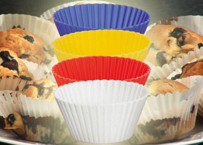 8 db-os szilikonos muffin sütőforma, akár karácsonyra akár máskorra