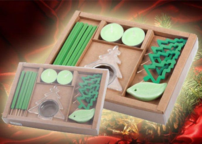 Alma illatú füstölő- és gyertya szett ajándékdobozban