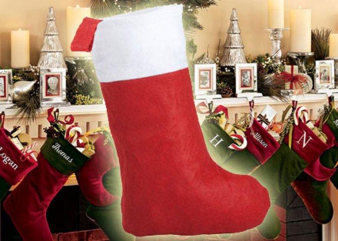 Karácsonyi csizma alakú ajándéktasak