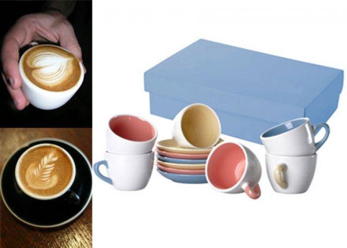 Macchiato 12 részes, kerámia kávéscsésze szett