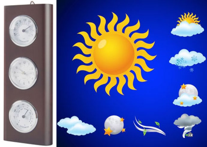 Totem időjárás állomás, hőmérő+páratartalom mérő+digitális óra funkció