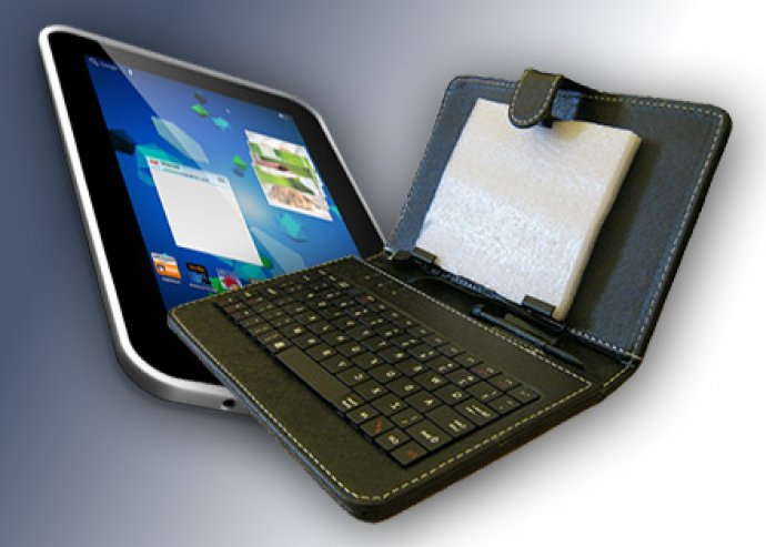 Fekete tablet tok 7 vagy 10 colos kivitelben, ajándék tollal