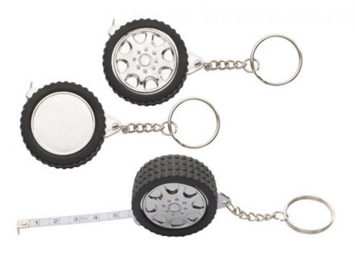 Wheel kulcstartó mérőszalaggal