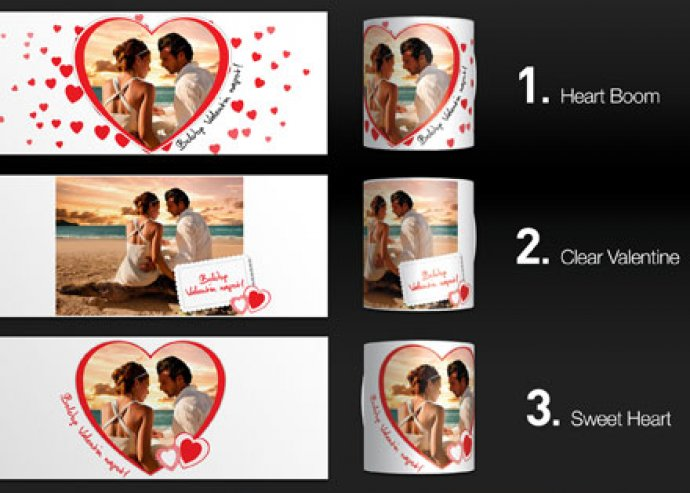 Nagyszerű emlék párodnak - fényképpel vagy választott grafikával egyedivé tehető Valentin-napi bögre