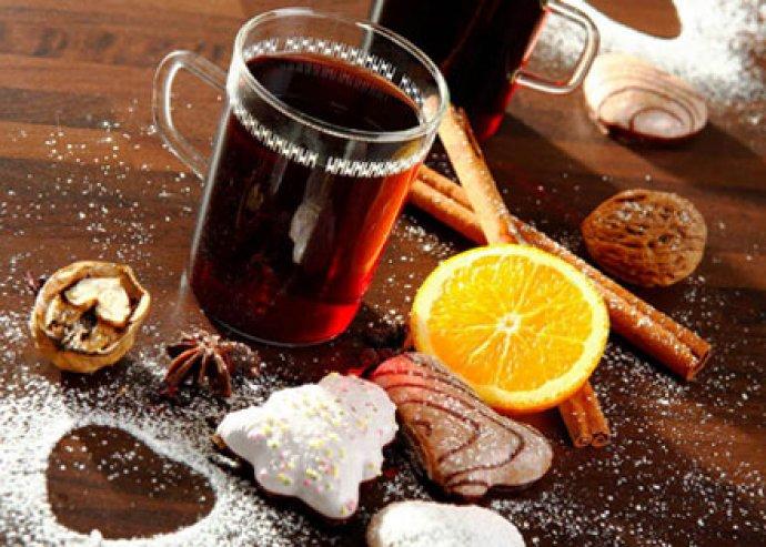 2 db választható sütemény - zserbó vagy csokis szelet - 2x2 dl forralt borral vagy 2x3 dl teával