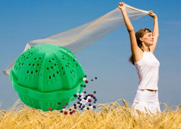 Mosólabda, a belsejében kerámia golyókkal, a környezetbarát tisztítószer 1500 mosáshoz