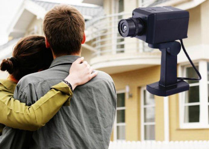 Mozgó álkamera, ideális kültéri vagy beltéri épület-felügyeletre, rablók távoltartásához