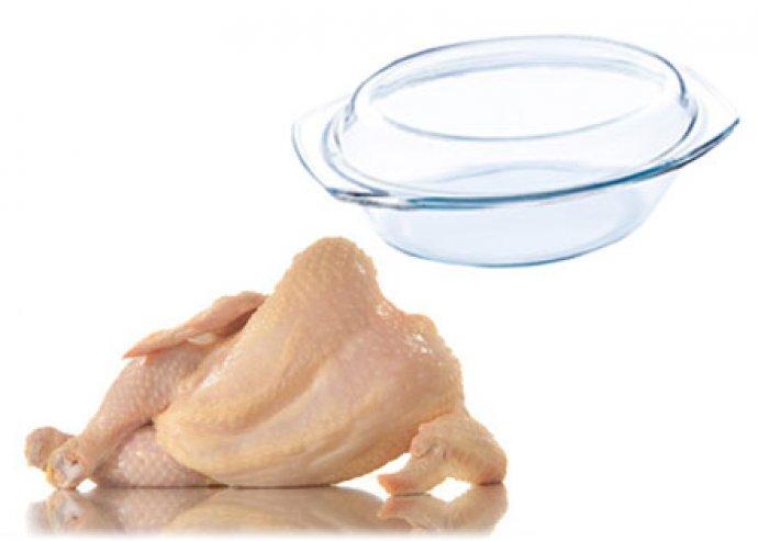 Ovális, 2.5 literes hőálló üvegtál fedővel, sütőben-mikróban használható, kadmium és ólom mentes