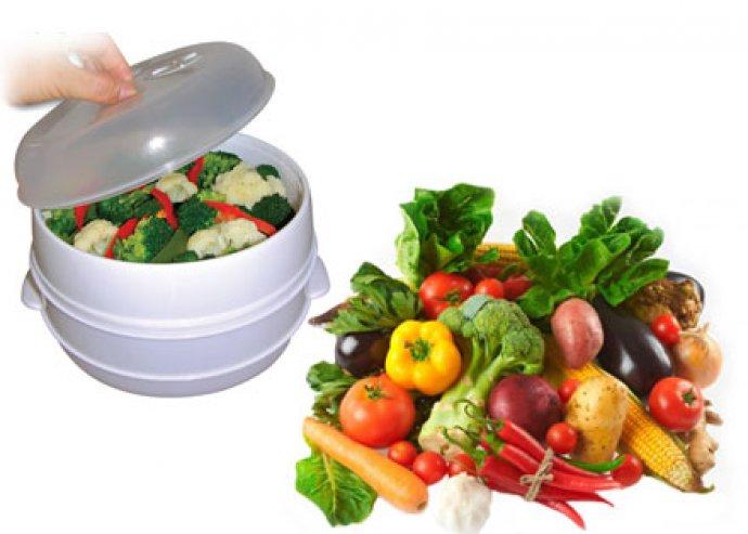Könnyű és gyors ételkészítést biztosító, kiváló minőségű, 3 részes, 2 emeletes párolóedény