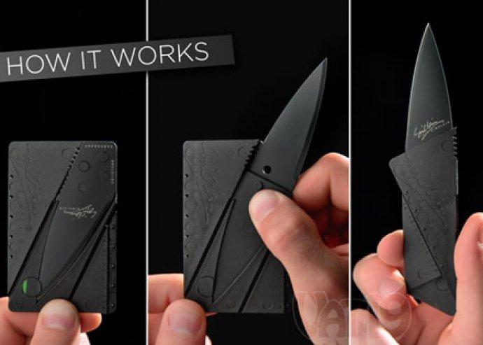 CardSharp hitelkártya alakú zsebkés, az Iain Sinclair dizájn műhelyből, kiszállítással
