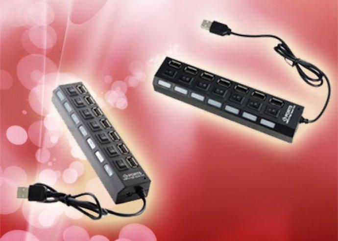 Mesteri megoldás - 7 portos praktikus USB elosztó a meglévő csatlakozók számának megsokszorozására