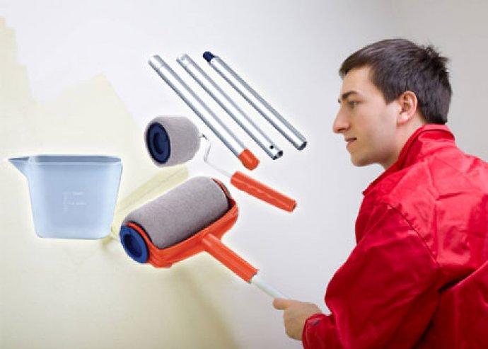 Egyszerűbb és gyorsabb festés - görgős festőkészlet tartályos hengerekkel, teleszkópos rúddal