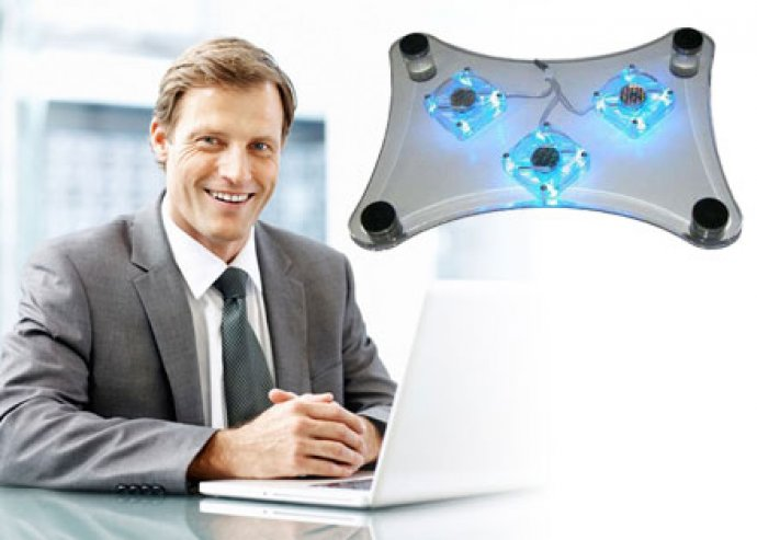 Hosszabbítsd meg géped életét - 3 ventilátoros laptop hűtő stílusos dizájnnal!