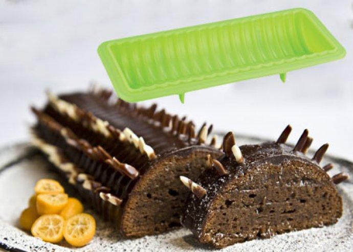 Tapadásmentes felületű, szilikon őzgerinc sütőforma a legmutatósabb sütemények elkészítéséhez