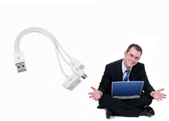 Verhetetlen áron kaphatsz egyetlen, praktikus 3 az 1-ben multi töltőt, USB-véggel