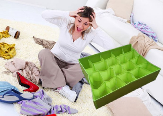 20 vagy 24 rekeszes fiókrendező a kisebb méretű ruhák, tárgyak áttekinthető tárolására