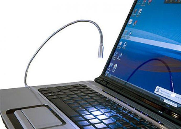 Fény az éjszakában - USB-s, LED-es lámpa, hajlítható testtel laptopokhoz, notebookokhoz