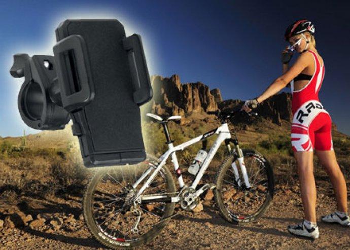 Praktikus megoldás kerékpárosoknak - állítható méretű, biciklire rögzíthető mobiltelefon tartó
