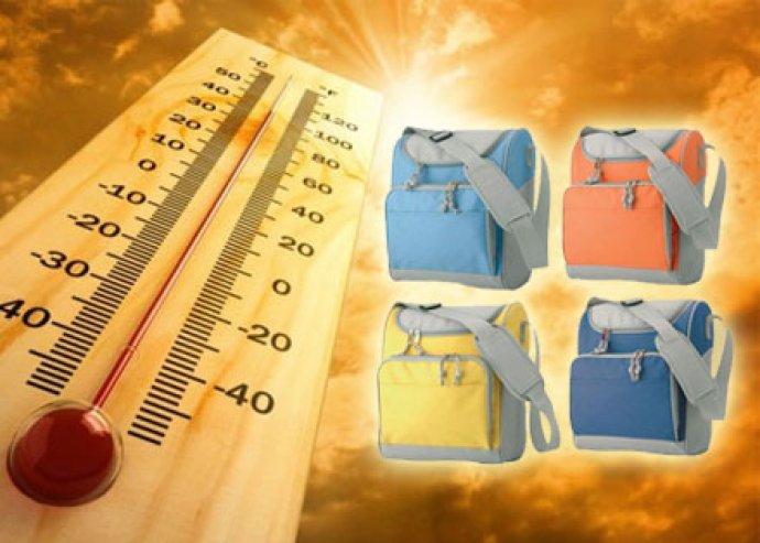 A nyári melegben jól esne egy hideg üdítő? Praktikus hűtőtáska 4 színben, vállpánttal, cipzáras résszel