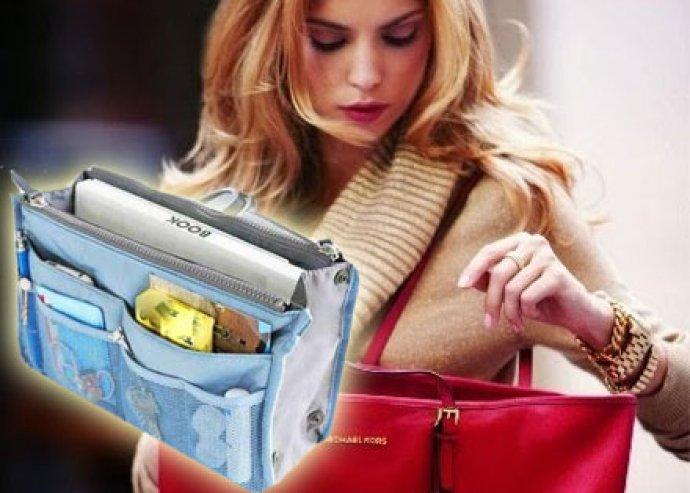 Rend a lelke mindennek - praktikus, dizájnos, sokrekeszes táskarendező 6-féle színben