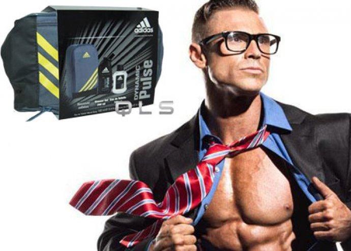 Adidas kozmetikai csomag férfiaknak Dynamic Pulse vagy Ice Dive parfümmel, dezodorral és tusfürdővel!