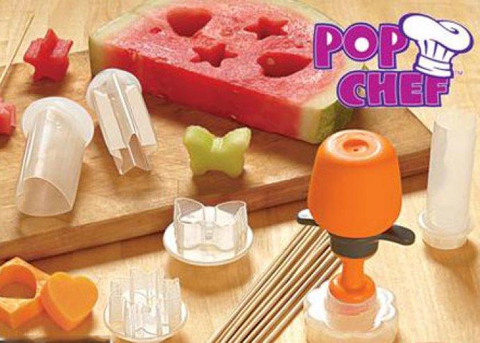 Légy kreatív a konyhában! Pop chef vákuumos gyümölcsformázó, 6 db kiszúróval