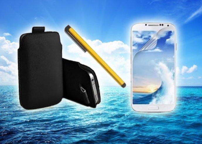 Kiváló minőségű telefontokok Samsung S4/ S3-re vagy Iphone 5-re, képernyővédő fóliával és érintőceruzával