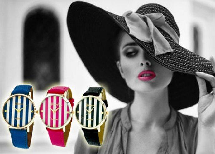 Legyél mindig pontos - kiváló minőségű, divatos női Geneva karóra, 5 választható színben