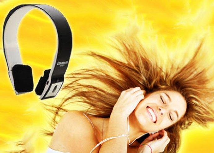 Csúcsminőségű vezeték nélküli Bluetooth fejhallgató és headset, beépített mikrofonnal